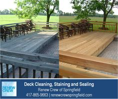 http://renewcrewspringfield.com/deck-cleaning-staining-sealing – This beautiful backyard deck is even more enjoyable after a deck cleaning by Renew Crew of Springfield. Our 3-step process cleans and protects your deck making it look like new. We serve Springfield MO plus Greene, Christian, Webster, Polk and Dallas Counties. Free estimates.