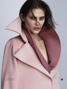 Catherine McNeil shows off the best oversize coats for Russh Magazine
