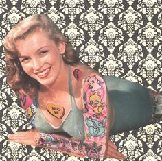 Norma Jean collage art by TheEscapistArtist on Etsy, $4.00