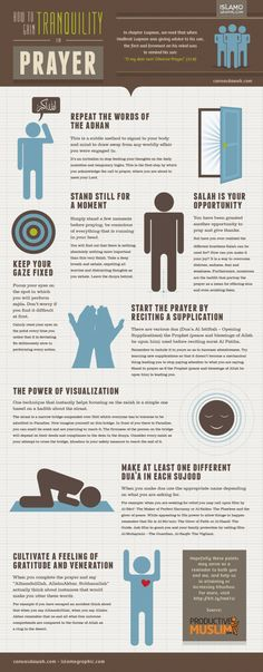 How to gain tranquility in prayer. Source:... – Canvas Dawah
