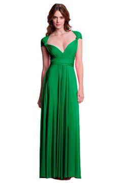 Sakura Convertible Long Gown - Emerald Green $158.00