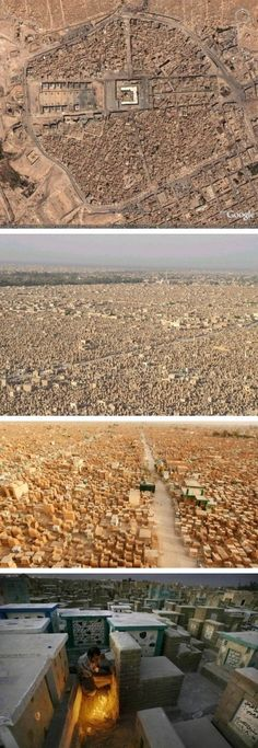 Wadi Al-Salaam in Iraq, the largest cemetery in the world.