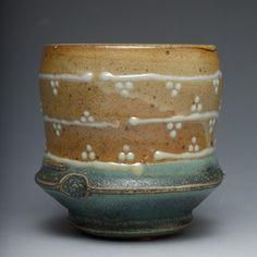 Marissa Domanski     Dotty, salt-fired teabowl.