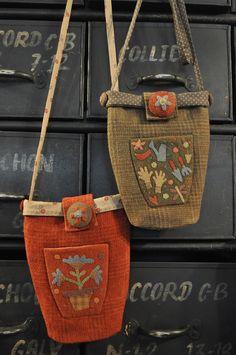 appliqued Woolen bag