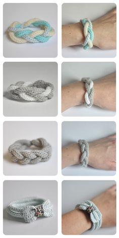 Bracelets au tricotin - www.julypouce.fr