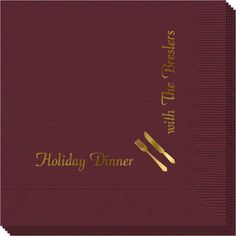 Corner Text Napkins