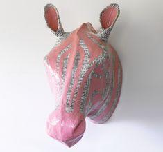 Paper Mache Safari {DIY Zebra Head}