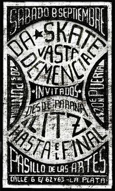 Flyer Da Skate | La Plata #lettering #typography #type #design