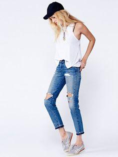 Free People 505 Customized Boyfriend Jeans