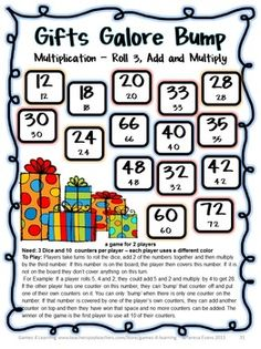 27 Multiplication Bump Games that reviews multiplication skills up to 12 x 12 $ by Games 4 Learning