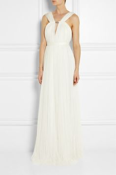 Lanvin silk blend tulle gown