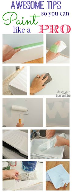 Awesome Tips so You Can Paint Like a Pro at The Happy Housie