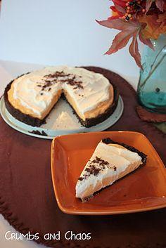 Pumpkin cream oreo tart