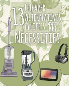 Cheaper alternatives