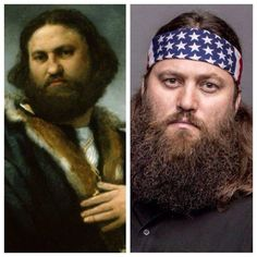 Lorenzo Lotto original painting in Buckingham Palace made in 1527 of Andrea Odoni and WillieRObertson #doppelganger #DuckCommander #DuckDynasty