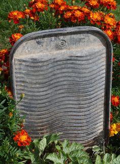 antique galvanized washboard