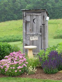 outhouse garden