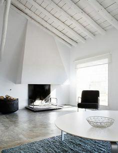 modern barn and concrete floors