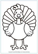 Turkey coloring page