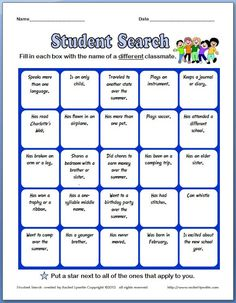 Free Back to School Ice Breaker! | Minds in Bloom ... I use a similar BINGO game as an ice breaker for the first day