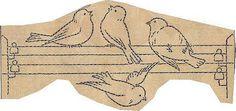 vintage bird embroidery, craft, beauti bird, wire, embroderi, bordado, french transfer, birds, embroideri