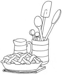 ;) kitchens, draw, kitchen embroidery patterns, peach pie, becci place, digi, color, bordado, embroideri