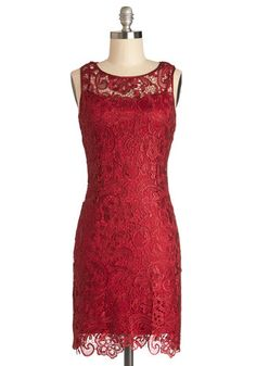 A Sweet Aperitif Dress in Cherry, #ModCloth