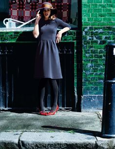 Boden 2012 Fall - Loulou Dress, Fab Felt Hat