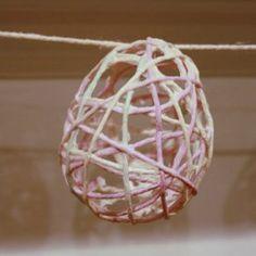 starchi yarn, yarn crafts, 99 craft, yarn easter, crafti craft, yarns, garlands, easter eggs, kid crafts