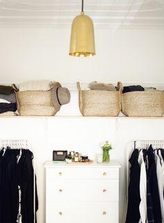 Organized Closet (Love those baskets!)