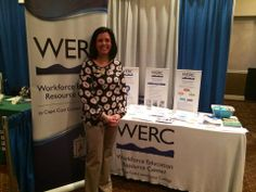 Jennifer True, Director for WERC, networking at our booth in Plymouth. #networking #businessexpo #capcod