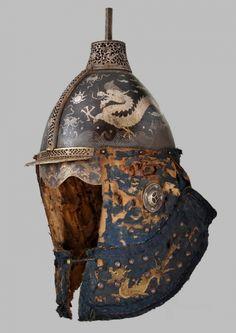 Chinese chichak-style helmet, Ming Dynasty.