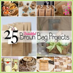 25 Amazing Brown Paper Bag Projects and Crafts! Great for parties, crafts, gifts, etc.