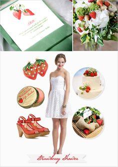 Strawberry themed bridal shower ideas