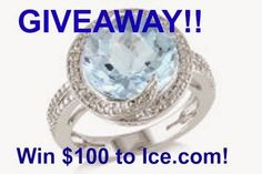 MyStyleSpot: GIVEAWAY: Win $100 for Fine Jewelry from Ice.com #contest #win #fashion #style #sweepstakes #giveaway #fine #jewelry #ice #icecom #gemstone #diamond #pearl #silver #gold #engagement #wedding #weddingbands #men #women #children #watches #rings #earrings #bracelet #necklace