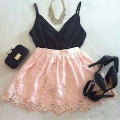 Conjunto de ropa. For lady's pink beauty.