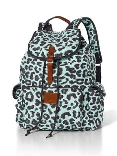 Mint leopard Victoria secrets backpack.