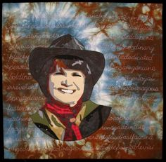 'Cowgirl Lexicon' art quilt by Marta Amundson. 2010.