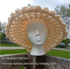 Ashmar Sunhat crochet pattern from Snappy Tots.