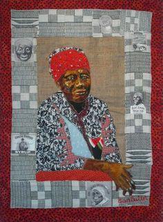 Bisa Butler - lovely art quilt and fantastic border!