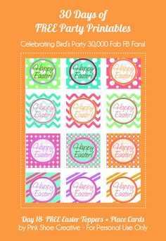 Printables Easter Cupcake Toppers + Place Cards by Pink Shoe Creative featured on @Bird's Party