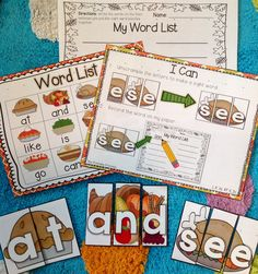 """Sight word puzzles... perfect for the month of November! Includes optional word list for self-checking. Common core aligned. """"I Can"""" posters included to promote independent workers."""