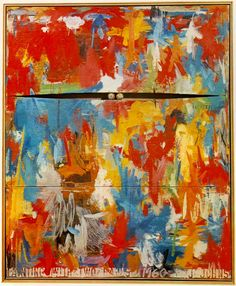 Jasper Johns: Painting with two balls,  1960