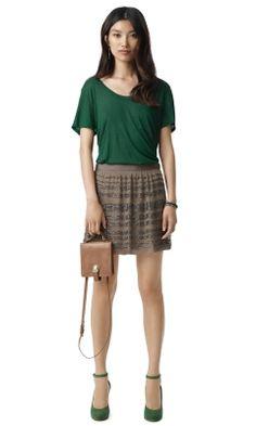 Lynda Silk Embellished Skirt - Club Monaco Skirts - Club Monaco