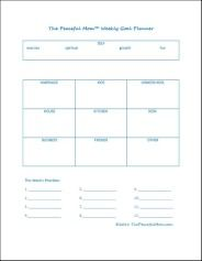 Weekly Goal Planner-set your goals in several categories to accomplish what's important.