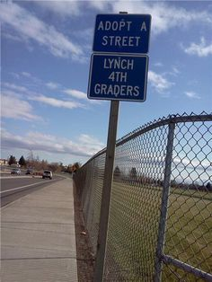 Unfortunate street sign; didn't they read it?