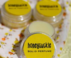 NEW Honeysuckle Solid Perfume by daisycakessoap on Etsy, 4.00usd