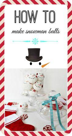 how to make snowman balls for the holiday season. #debbiedoos