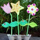 Preschool paper flower garden