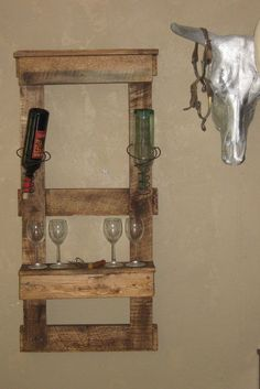 Wine Pallet Shelf